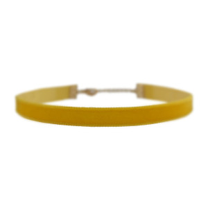 Velvet Choker Necklace, Sunflower