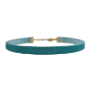 Velvet Choker Necklace - Teal Blue Turquoise - Wildflower + Co