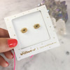 Evil Eye Stud Earrings | Tiny Gold | Wildflower + Co. Jewelry