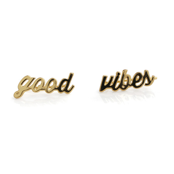 Good Vibes Climber Earrings | Gold | Wildflower + Co. Jewelry