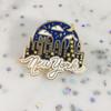 New York at Night Enamel Pin - Flair Lapel Pin - NYC Souvenir - Wildflower Co (1)