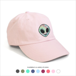 Alien Embroidered Baseball Hat - Choose your hat color!