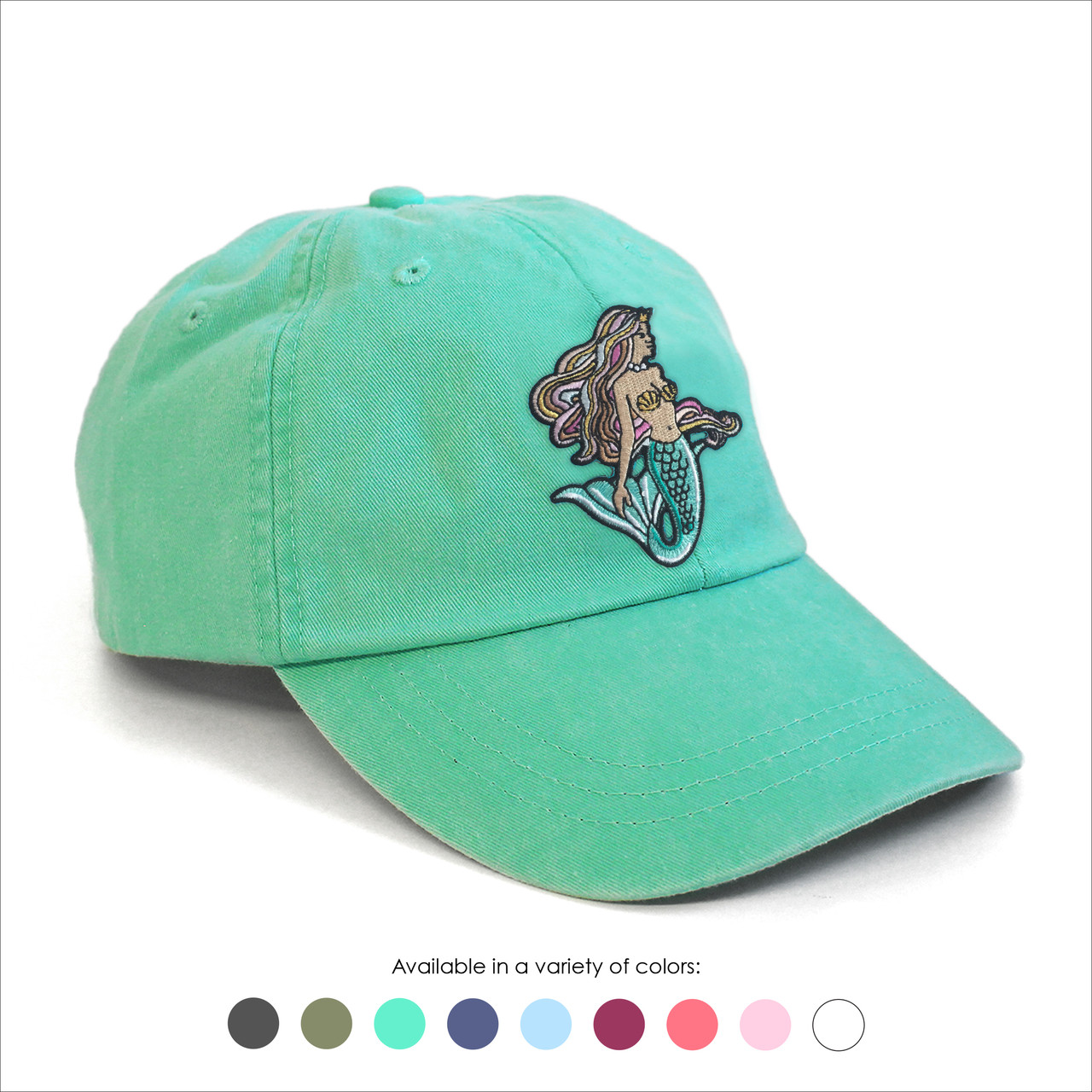 Mermaid Baseball Hat - Choose your hat color! - Wildflower + Co. 727d3ad238a