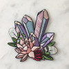 Crystal Patch - Crystals Flowers - Mystical - Iron On Embroidered Patches - Wildflower + Co