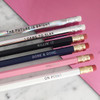 Killin It Fancy Pencil Pack - Holographic & Pink - The Future is Bright - I Came to Slay - Killin It - Done & Done - Hustle - On Point - Wildflower + Co - Pkg