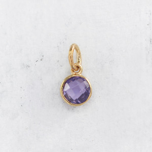 JW00206 Birthstone Charm - Wildflower Co.
