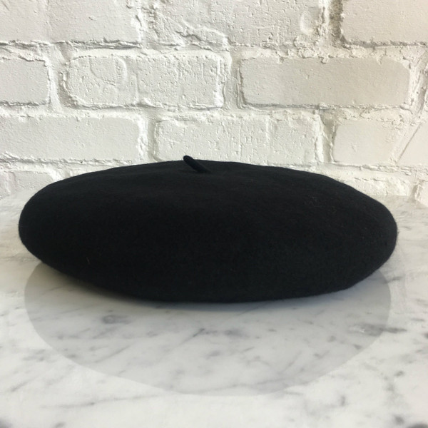 Black Beret Hat - Wool - Wildflower + Co.