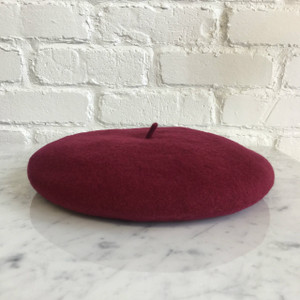 Wine - BurgundyBeret Hat - Wool - Wildflower + Co.