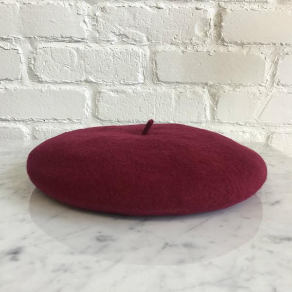 Wine - BurgundyBeret Hat - Wool - Wildflower + Co.