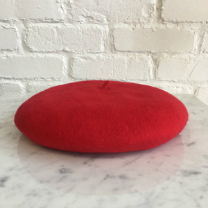 Red Beret Hat - Wool - Wildflower + Co.