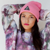 Custom Patch Beanie Hat - Slouchy Stand Up - Hot Pink - Winter - Wildflower + Co. Accessories (3)