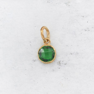 JW00206 Birthstone Emerald Green - May 0 Charm Pendant - Wildflower.Co - Main