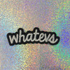 Whatevs - Whatever Forever - Embroidered Iron On Patch Patches Appliques - Black & White - Word Quote - Wildflower Co. SCALE