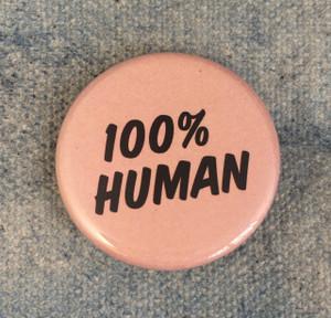 100 human button pin Wildflower Co