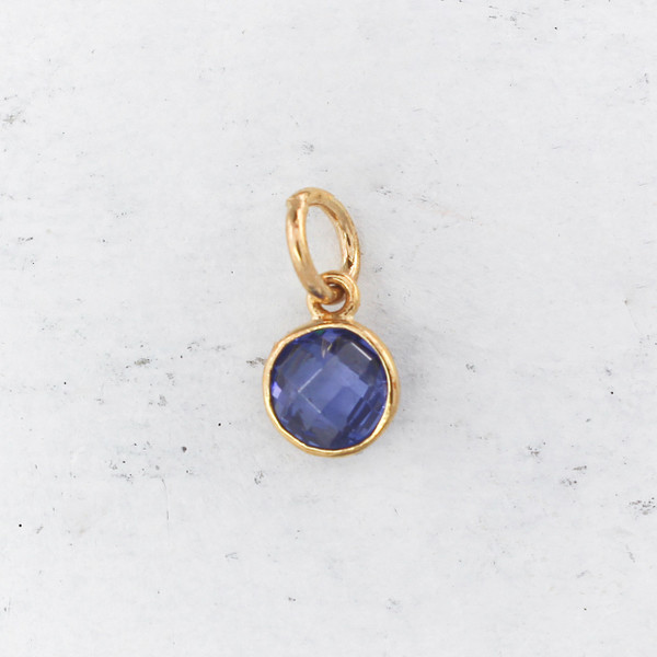 JW00206 Birthstone Sapphire Blue - Charm Pendant - Wildflower.Co - Main