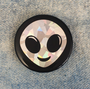 Alien Holographic Button Pin Flair - Wildflower Co