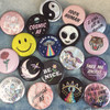 Wildflower + Co Button Pins - Flair Pins - Whimsical Graphics & Holographic - 5 for $10