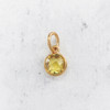 JW00206CITOS Citrine November Birthstone Pendant Charm Synthetic Gemstone - DIY November Birthstone Jewelry - Necklace - Bracelet