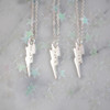 Lightning Bolt Necklace - Personalized - Custom - Engraved - Dainty - Tiny - Sterling Silver - Gold - Wildflower Co