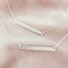Feminist Skinny Bar Necklace - Dainty Gold Sterling Silver - Engraved Custom Personalized - Wildflower Co