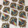 Cosmic Aura Rainbow Eye Embroidered Patch - Wildflower Co