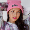 Custom Patch Beanie Hat - Slouchy Stand Up - Hot Pink - Winter - Wildflower + Co. Accessories (1)