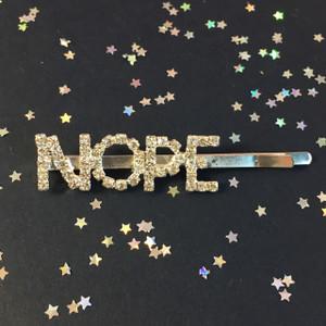 Crystal Word!  Bobby Pins - NOPE