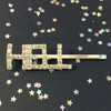 Crystal Rhinestone Bobby Pins Barrette Hair Clip Accessory - HELL YEAH - Model - Wildflower Co Accessories (1)