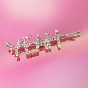 YEAH CRYSTAL BOBBY PIN - HAIR ACCESSORY CLIP - RHINESTONE DIAMOND SILVER - SOFT GIRL - WILDFLOWER + CO.