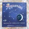 Zodiac Enamel Pin - AQUARIUS - Flair - Astrology Gift - Birthday - Constellation Star & Moon - Gold - Wildflower + Co. Accessories (3)