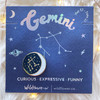 Zodiac Enamel Pin - GEMINI - Flair - Astrology Gift - Birthday - Constellation Star & Moon - Gold - Wildflower + Co. Accessories