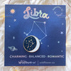 Zodiac Enamel Pin - LIBRA - Flair - Astrology Gift - Birthday - Constellation Star & Moon - Gold - Wildflower + Co. Accessories (2)
