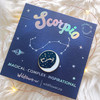 Zodiac Enamel Pin - SCORPIO - Flair - Astrology Gift - Birthday - Constellation Star & Moon - Gold - Wildflower + Co. Accessories (2)