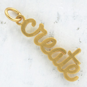 JW00020 Create Inspirational Jewelry Charm - Gold - Wildflower.Co - Main