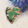 T Rex Dinosaur Enamel Pin - Black Hole Outer Space - Flair - Wildflower Co