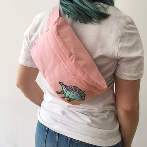 Custom Fanny Pack - Bum Bag - Patch Patches Personalized - Denim Black Checkerboard Pink Camo Leopard White- Wildflower Co