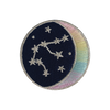 AQUARIUS Zodiac Patch - Star Sign Constellation - Crescent Moon - Embroidered Iron On Patch Patches for Jacket Jackets Flair - Night Sky Pastel Ombre - Wildflower Co DIY FLOAT