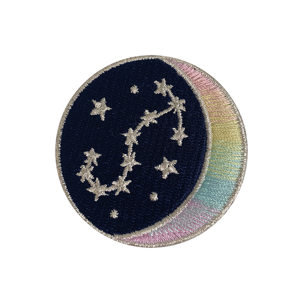 SCORPIO Zodiac Patch - Star Sign Constellation - Crescent Moon - Embroidered Iron On Patch Patches for Jacket Jackets Flair - Night Sky Pastel Ombre - Wildflower Co DIY (10)