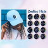 Zodiac Patch - Star Sign Constellation - Crescent Moon - Embroidered Iron On Patch Patches for Jacket Jackets Flair - Night Sky Pastel Ombre - Wildflower Co DIY - ALL