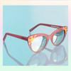 Cat Eye Sunglasses Sunnies Fun Cute Enamel Temple Details Sunrise - PASTEL PINK - On Model - Wildflower   Co  (13)