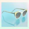 Cat Eye Sunglasses Sunnies Fun Cute Enamel Temple Details Sunrise - PEARL WHITE - On Model - Wildflower   Co  (15)