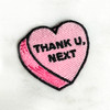 THANK U NEXT Heart Patch - PASTEL PINK - Candy Heart Conversational Heart - Iron On Patch for Jackets Patches Embroidered Applique - Pastel - Wildflower + Co. DIY (13)
