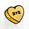 BYE Heart Patch - PASTEL YELLOW - Candy Heart Conversational Heart - Iron On Patch for Jackets Patches Embroidered Applique - Pastel - Wildflower + Co. DIY (15)