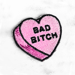 BAD BITCH Heart Patch - PASTEL LILAC - Candy Heart Conversational Heart - Iron On Patch for Jackets Patches Embroidered Applique - Pastel - Wildflower + Co. DIY (8)