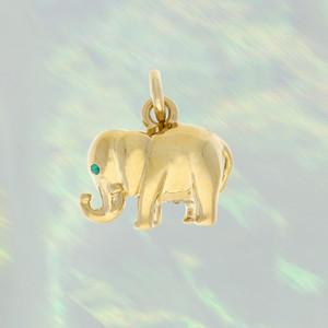 JW00028PGDOS - Lucky Elephant Charm, Gold - Charm, Charms, Pendant, Pendants, DIY