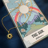 The Sun Tarot Card Inspired Necklace - Dainty Delicate Everyday Necklace - Jewelry - Gift - Sterling Silver Gold - Wildflower + Co.