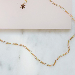 Figaro Chain Necklace - Classic Length - Gold - Wildflower + Co. Jewelry (2)