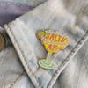 Salty AF Margarita Enamel Pin - Flair - Hard Enamel - Feminist - Wildflower + Co (1)