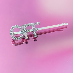 OFF CRYSTAL BOBBY PIN - BRIDAL BRIDE HAIR ACCESSORY CLIP - RHINESTONE DIAMOND SILVER - WILDFLOWER + CO.