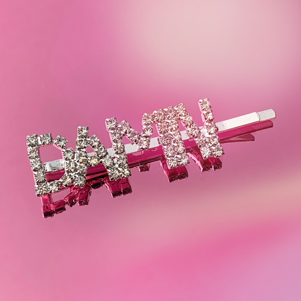 DAMN CRYSTAL BOBBY PIN - HAIR ACCESSORY CLIP - RHINESTONE DIAMOND SILVER - WILDFLOWER + CO.